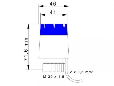 Termoelektrický pohon ATRIA 24V