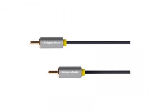 Kábel KRUGER & MATZ CINCH konektor/CINCH konektor 0,5m KM1200 Basic