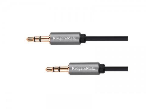 Kábel KRUGER & MATZ JACK 3.5 konektor/JACK 3.5 konektor 1,8m KM1227 Basic