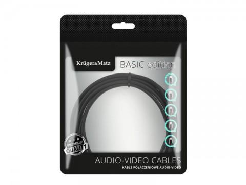 Kábel KRUGER & MATZ JACK 3.5 stereo/2xCINCH 5m KM1217 Basic