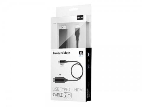 Kábel KRUGER & MATZ KM1249 HDMI / USB-C 2m