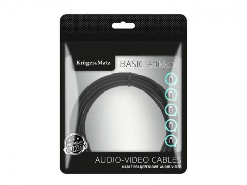 Kábel KRUGER & MATZ JACK 3.5 stereo/2xCINCH 1,8m KM1214 Basic