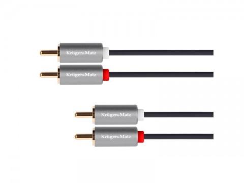 Kábel KRUGER & MATZ 2xCINCH konektor/2xCINCH konektor 1,8m KM1209