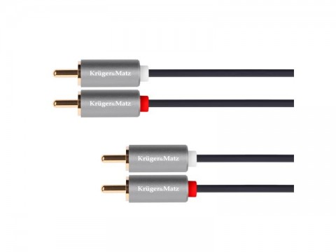 Kábel KRUGER & MATZ 2xCINCH konektor/2xCINCH konektor 5m KM1212 Basic