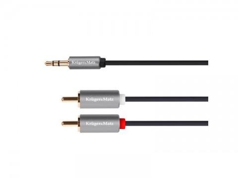 Kábel KRUGER & MATZ JACK 3.5 stereo/2xCINCH 3m KM1216 Basic