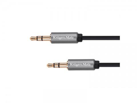 Kábel KRUGER & MATZ JACK 3.5 konektor/JACK 3.5 konektor 1m KM1226 Basic