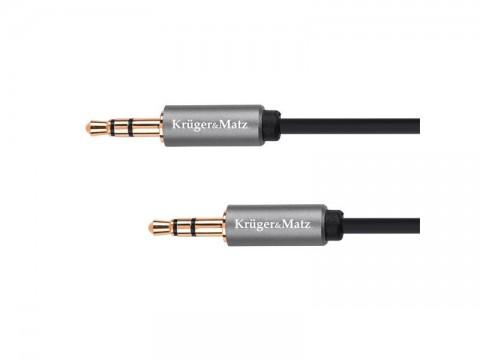 Kábel KRUGER & MATZ JACK 3.5 konektor/JACK 3.5 konektor 3m KM1228 Basic