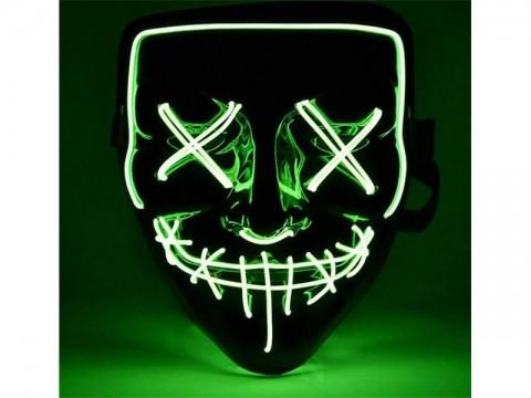 Maska svietiace 4L zelená
