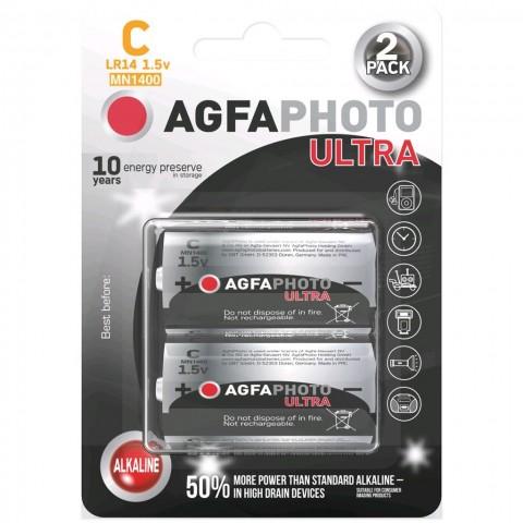 AgfaPhoto Power Ultra batéria LR14/C, blister 2ks