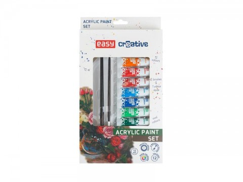 Akrylové farby EASY CREATIVE 12 farieb