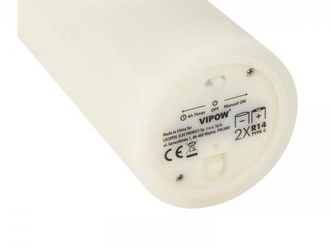 Vosková LED sviečka VIPOW LED0200-1