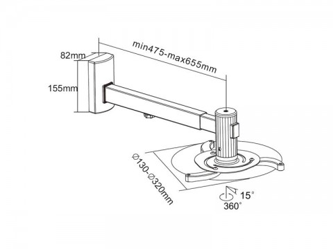 Držiak projektora CABLETECH UCH0101