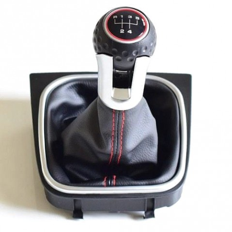 Radiaca páka s manžetou VW JETTA 2005 - 2014 5st Black/Red