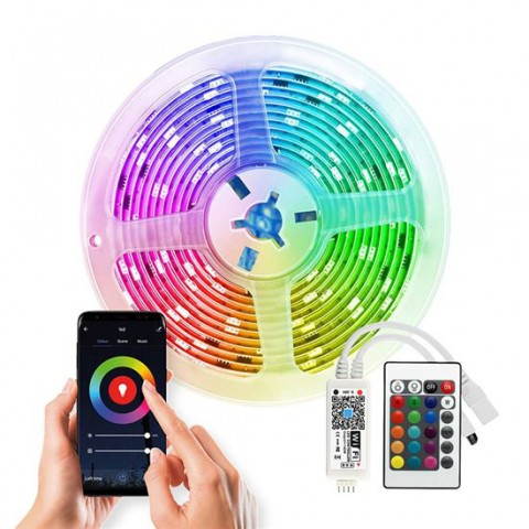 Smart LED pásik 12V 90LED/m IP65 20W/5m RGB SOLIGHT WM57