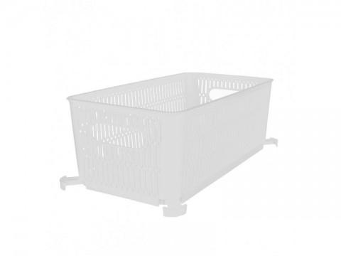 Košík ORION Nesta biely 28,5x23cm