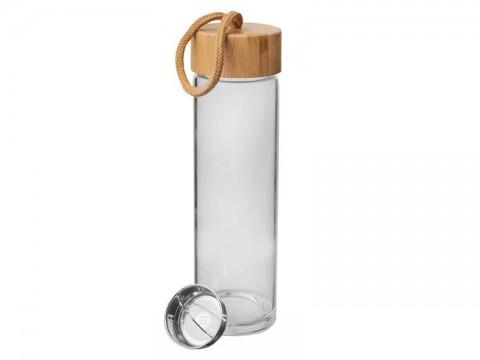 Fľaša na vodu ORION sklo / bambus 0,45l