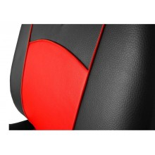 Autopoťahy AUTOOMEGA TUNING kožené čiernočervenej
